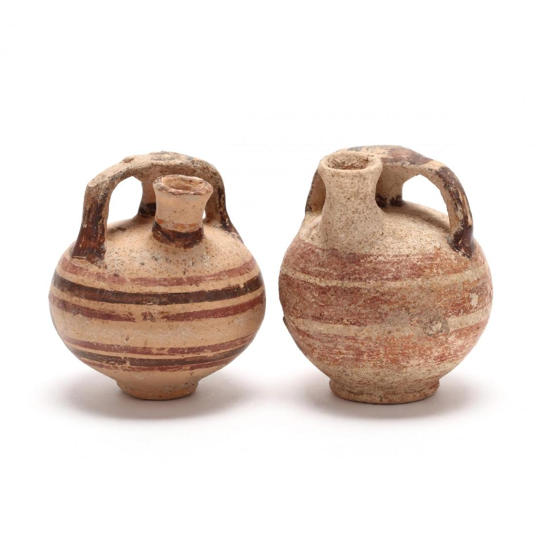 Two Cypriot-Mycenaean Stirrup Juglets
