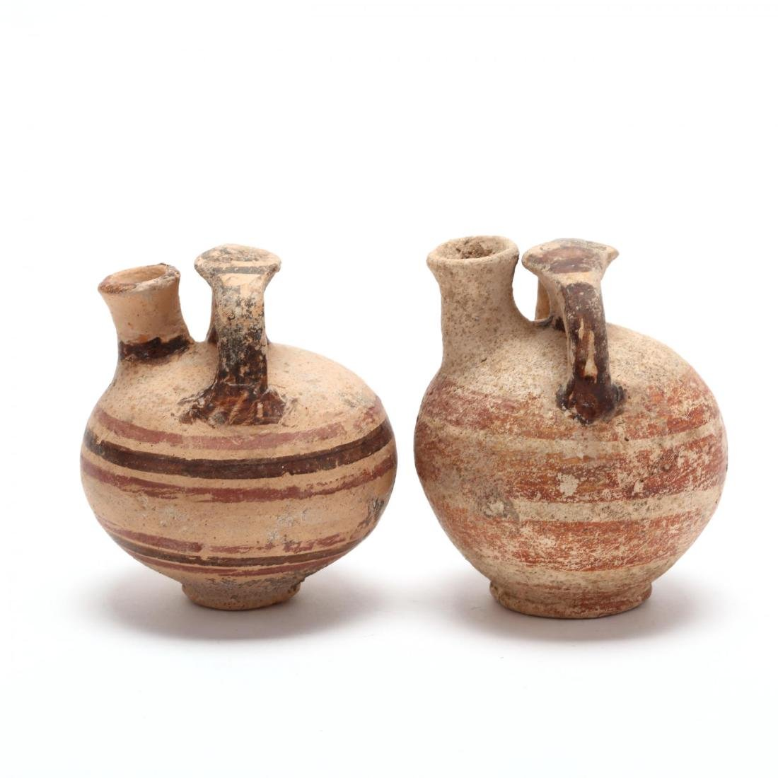 Two Cypriot-Mycenaean Stirrup Juglets - 3