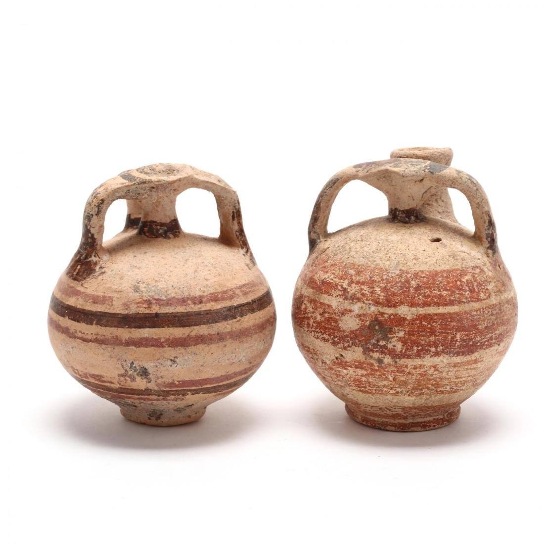Two Cypriot-Mycenaean Stirrup Juglets - 4