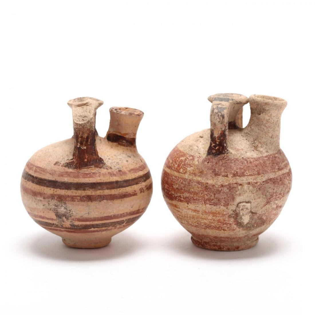 Two Cypriot-Mycenaean Stirrup Juglets - 5