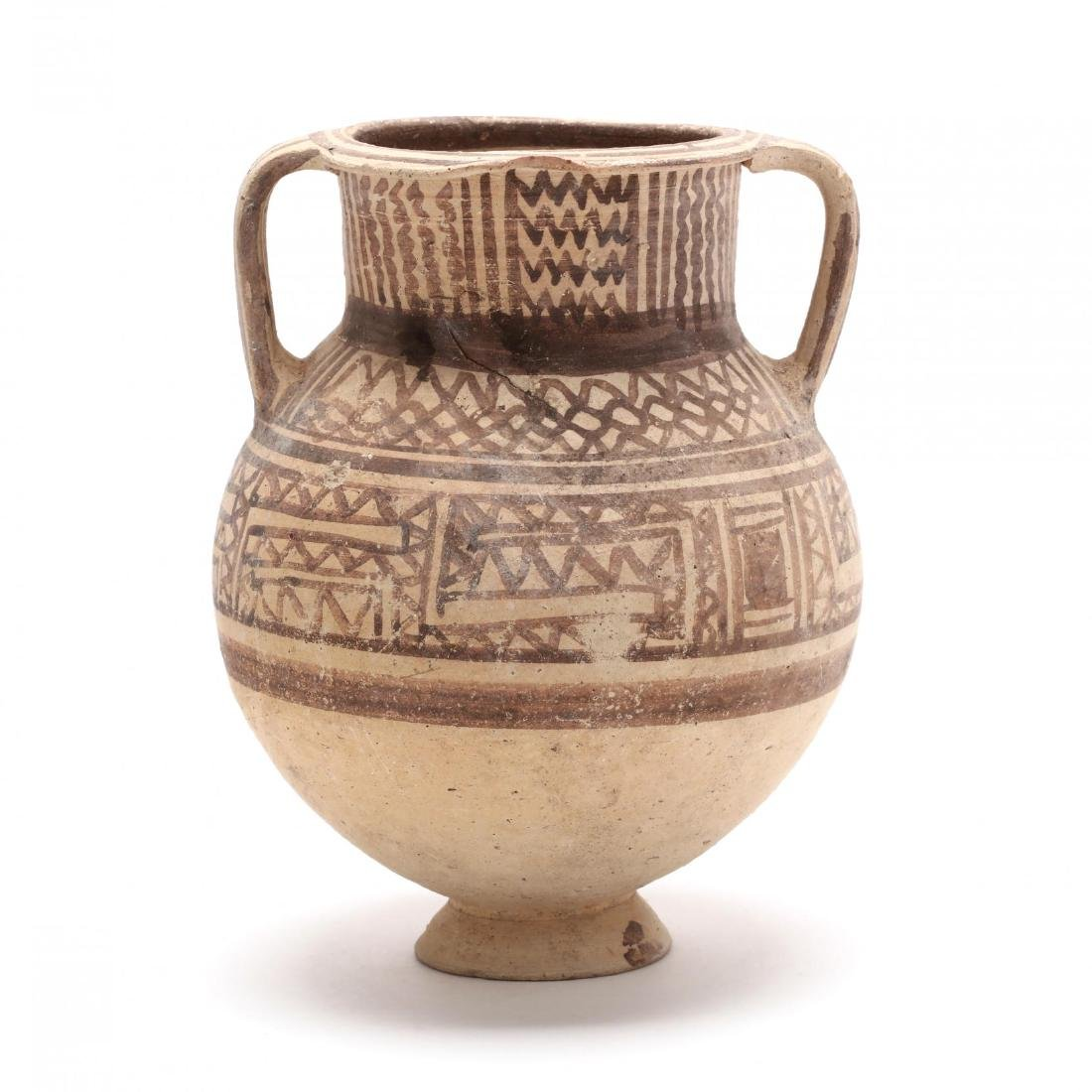 Cypriot Late Bronze Age Two-Handled Footed Amphora
