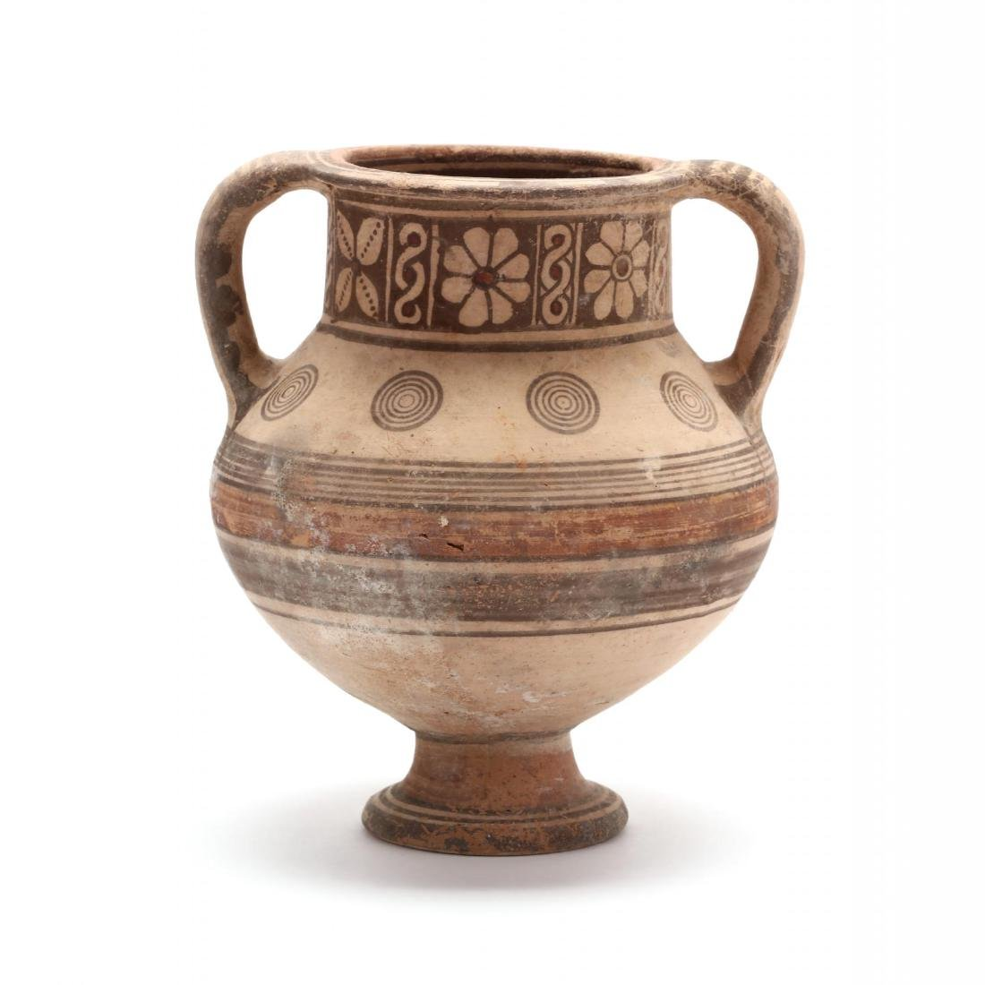 Cypro-Archaic Two-Handled Footed Amphora