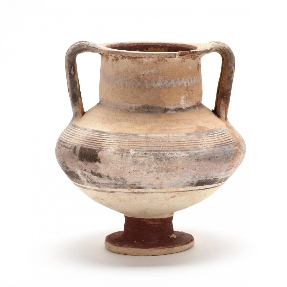 Cypro-Archaic Footed Amphora