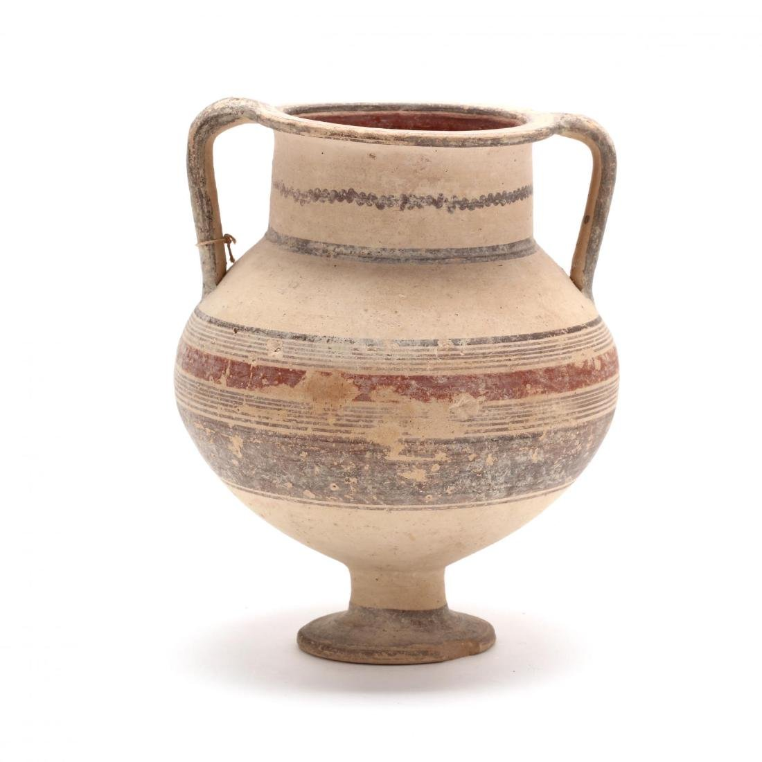 Cypro-Geometric Footed Amphora