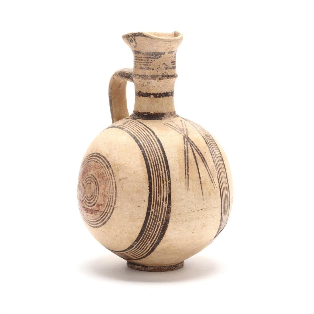 Cyprio-Archaic Barrel Form Bichrome Pitcher