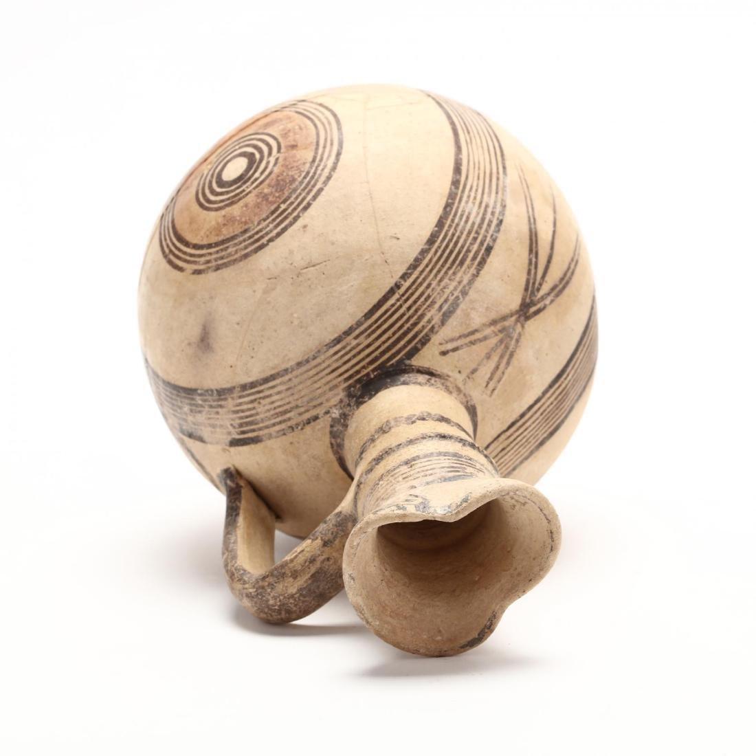 Cyprio-Archaic Barrel Form Bichrome Pitcher - 2