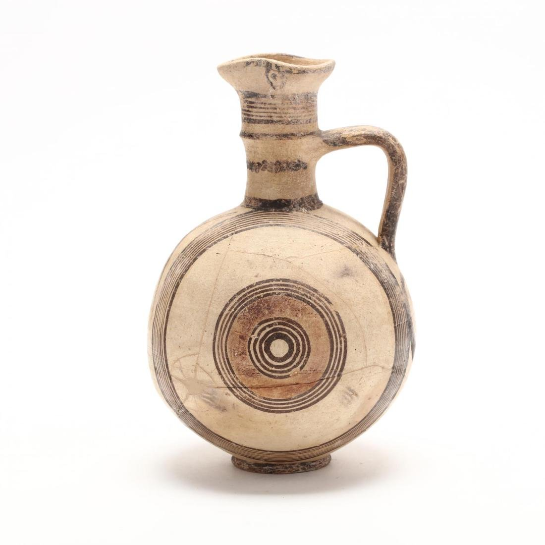 Cyprio-Archaic Barrel Form Bichrome Pitcher - 3