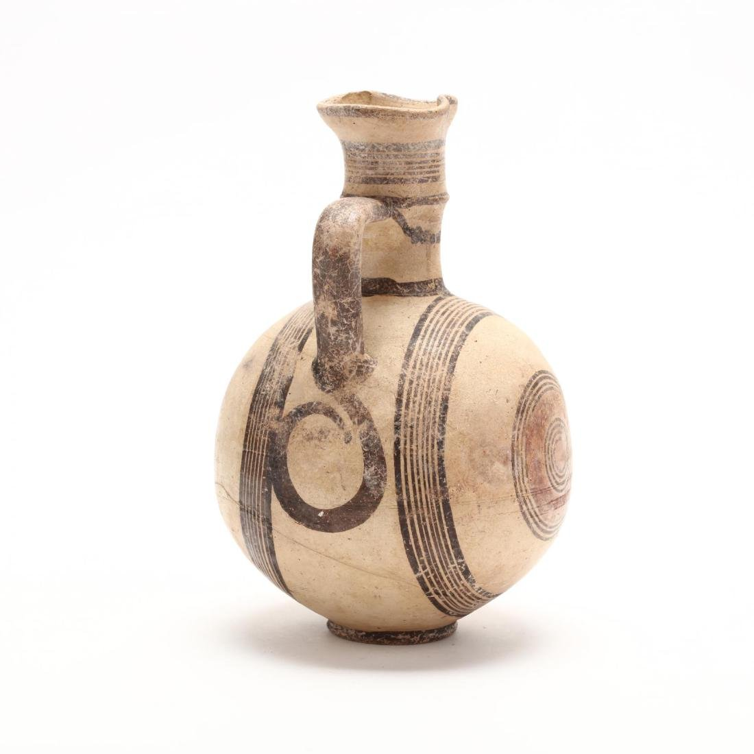 Cyprio-Archaic Barrel Form Bichrome Pitcher - 4