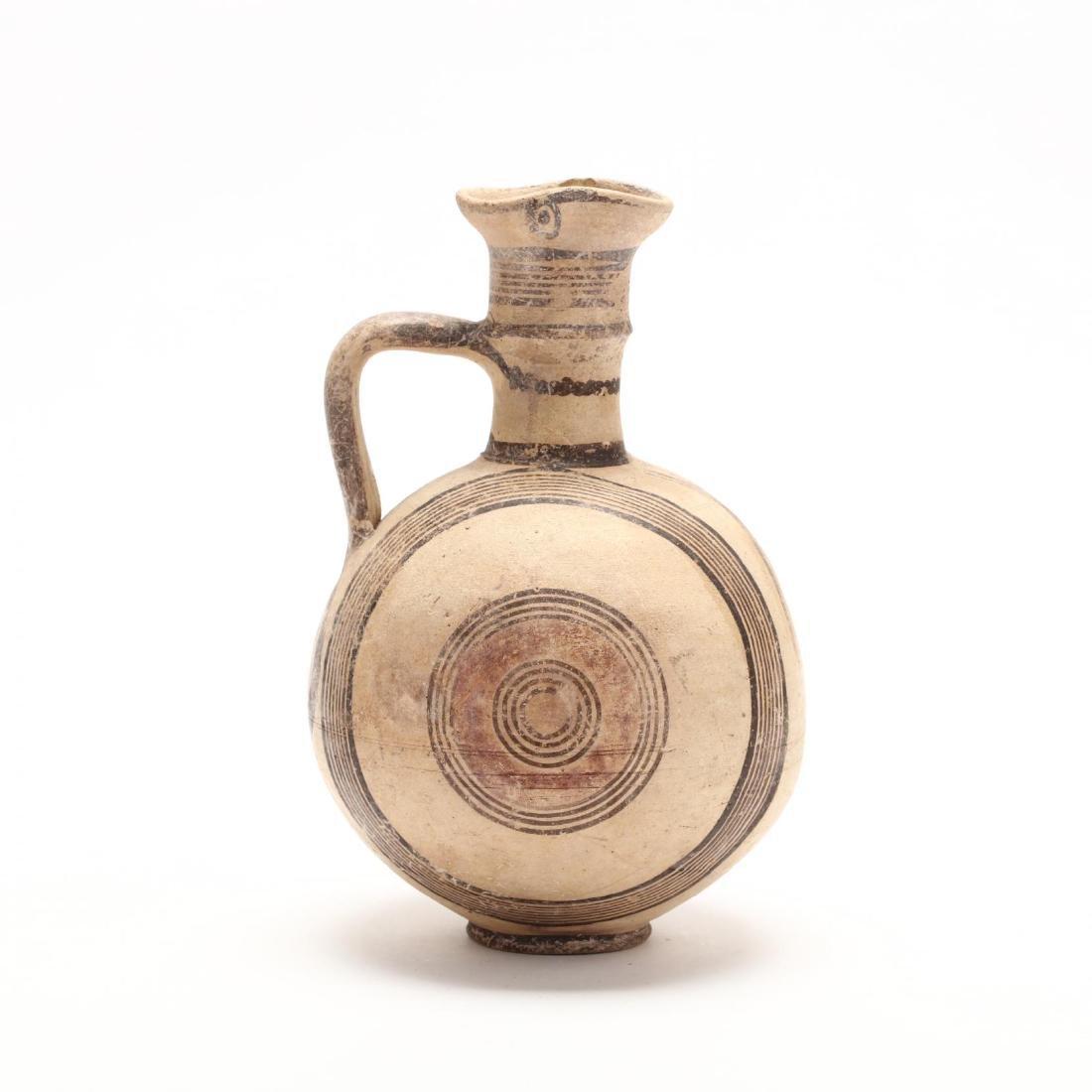 Cyprio-Archaic Barrel Form Bichrome Pitcher - 5