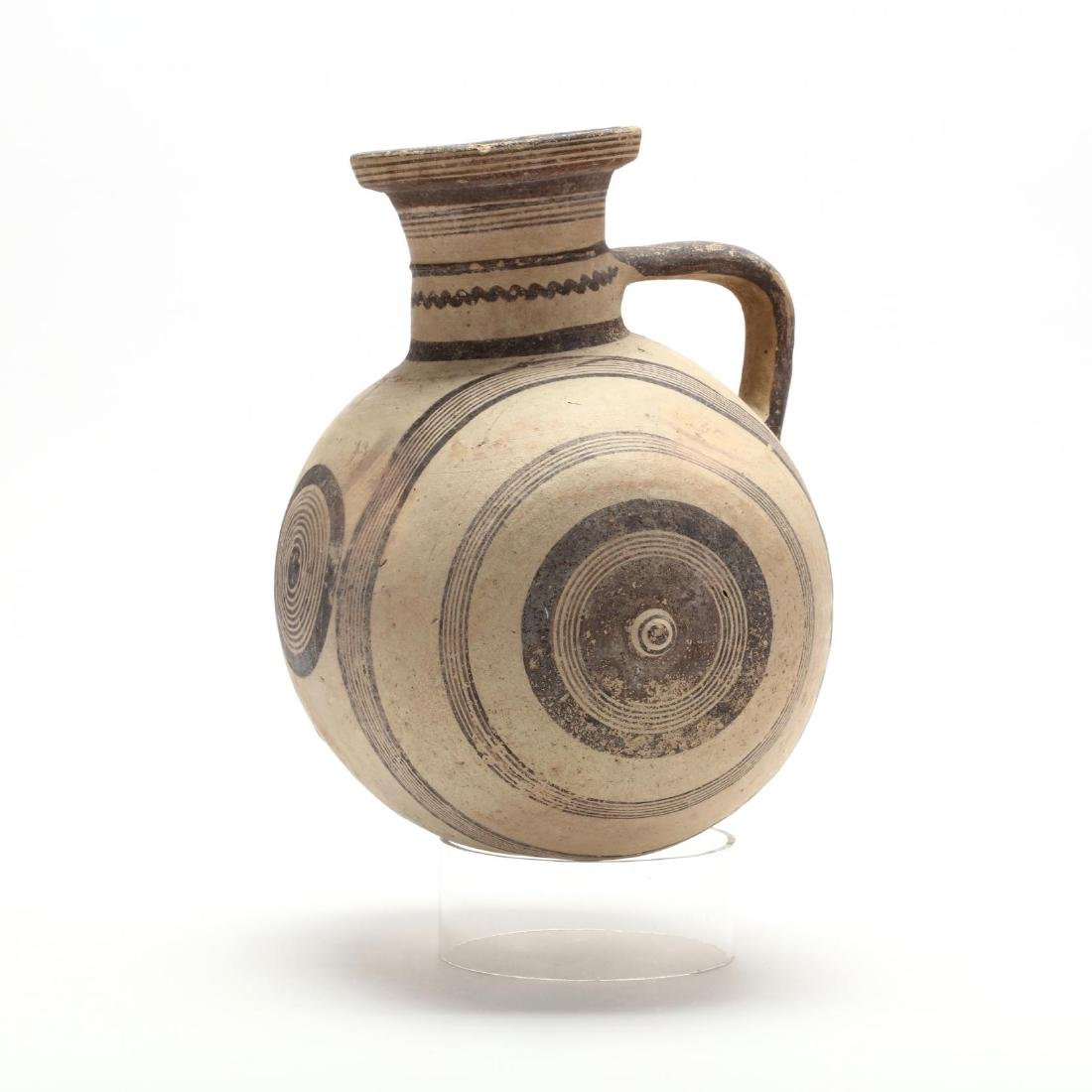 Large Cypro-Archaic Knob-End Jug - 3