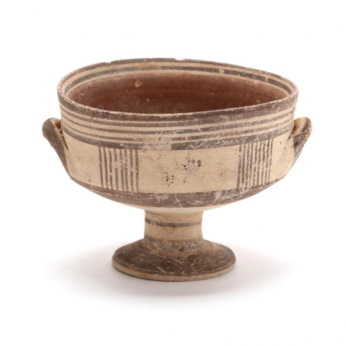 Cypro-Geometric Bichrome Stemmed Cup