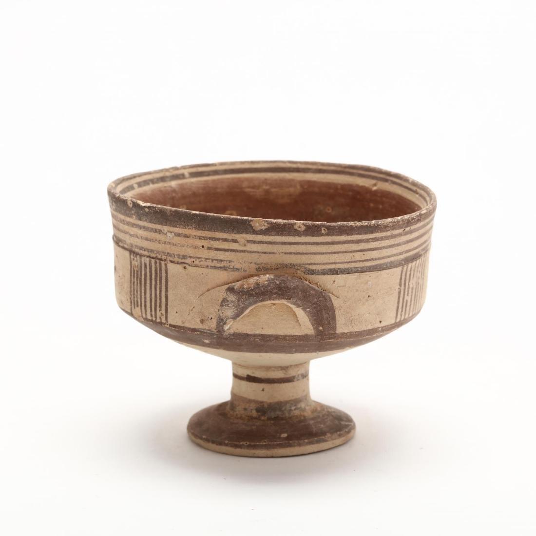 Cypro-Geometric Bichrome Stemmed Cup - 5