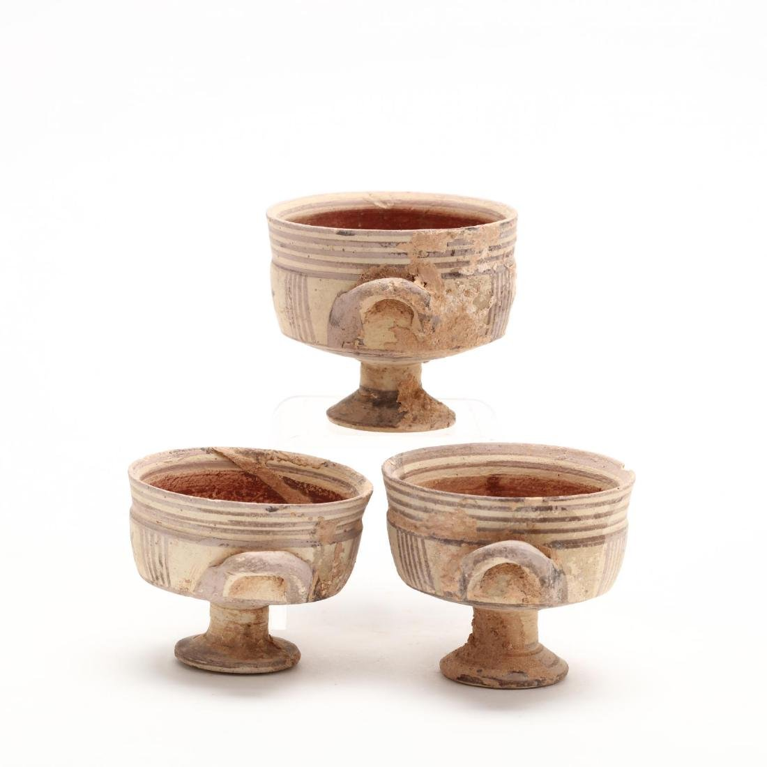 Three Conforming Cypro-Geometric Stemmed Cups - 3