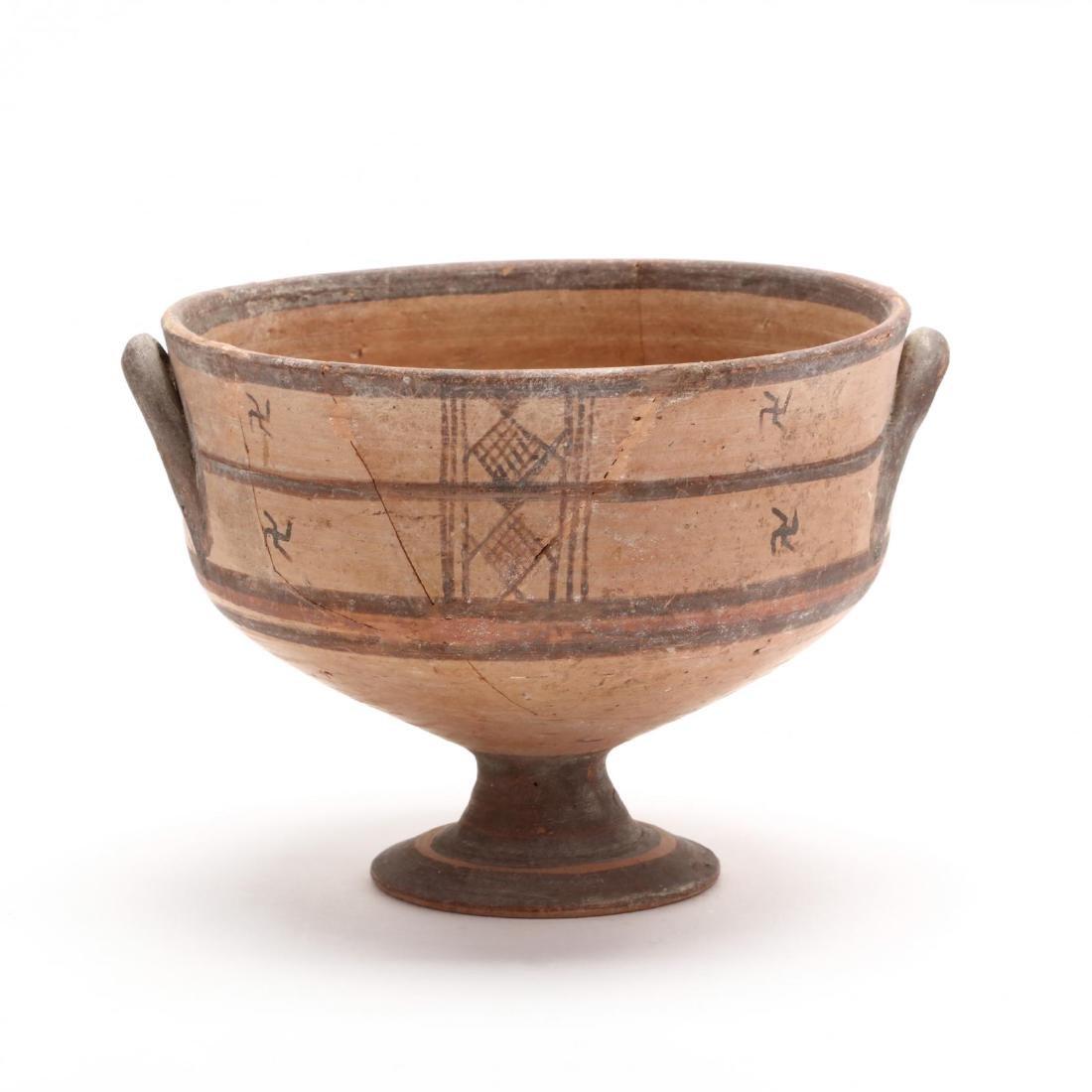 Cypro-Geometric Stemmed Bowl