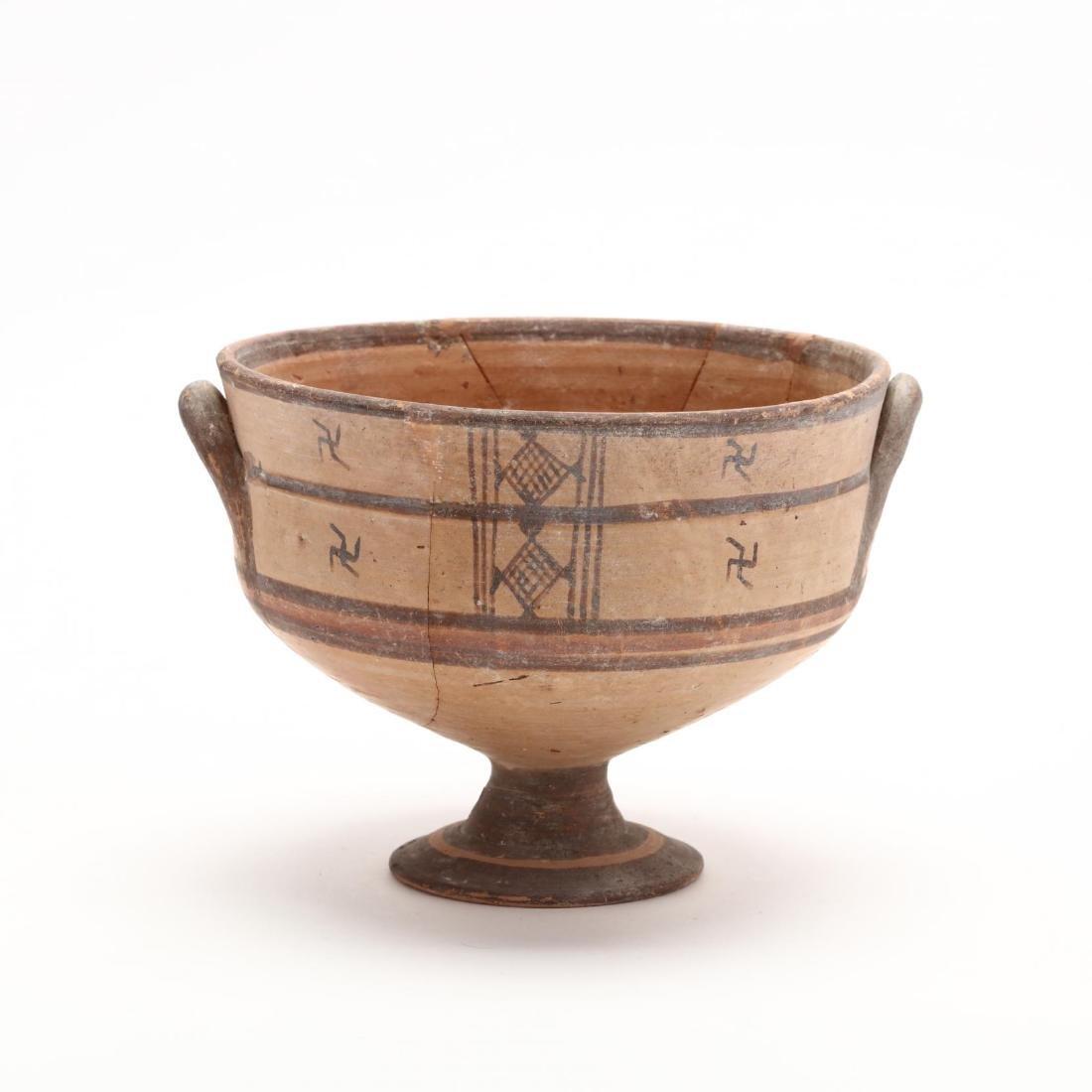 Cypro-Geometric Stemmed Bowl - 4