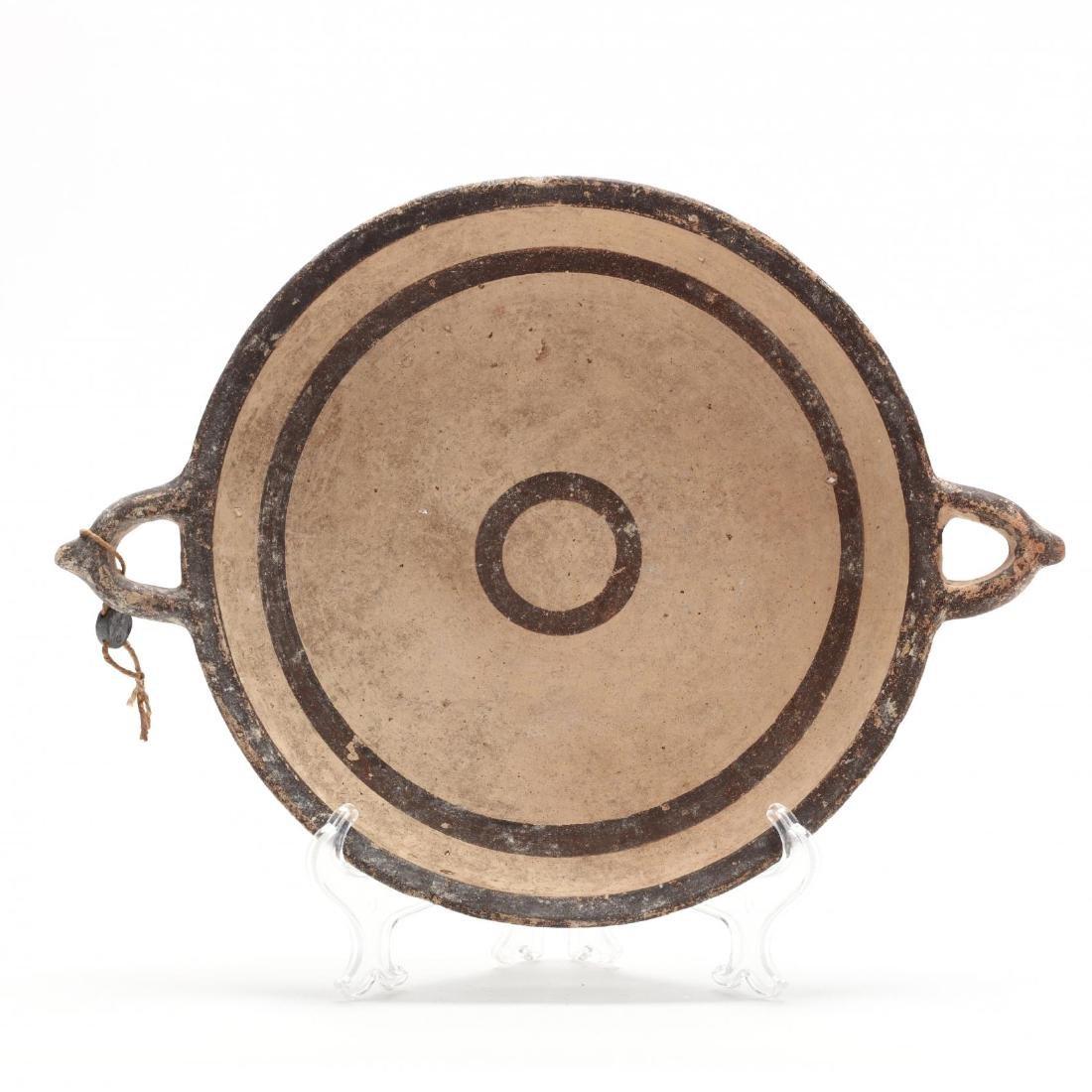 Cypro-Geometric Two-Handled Dish