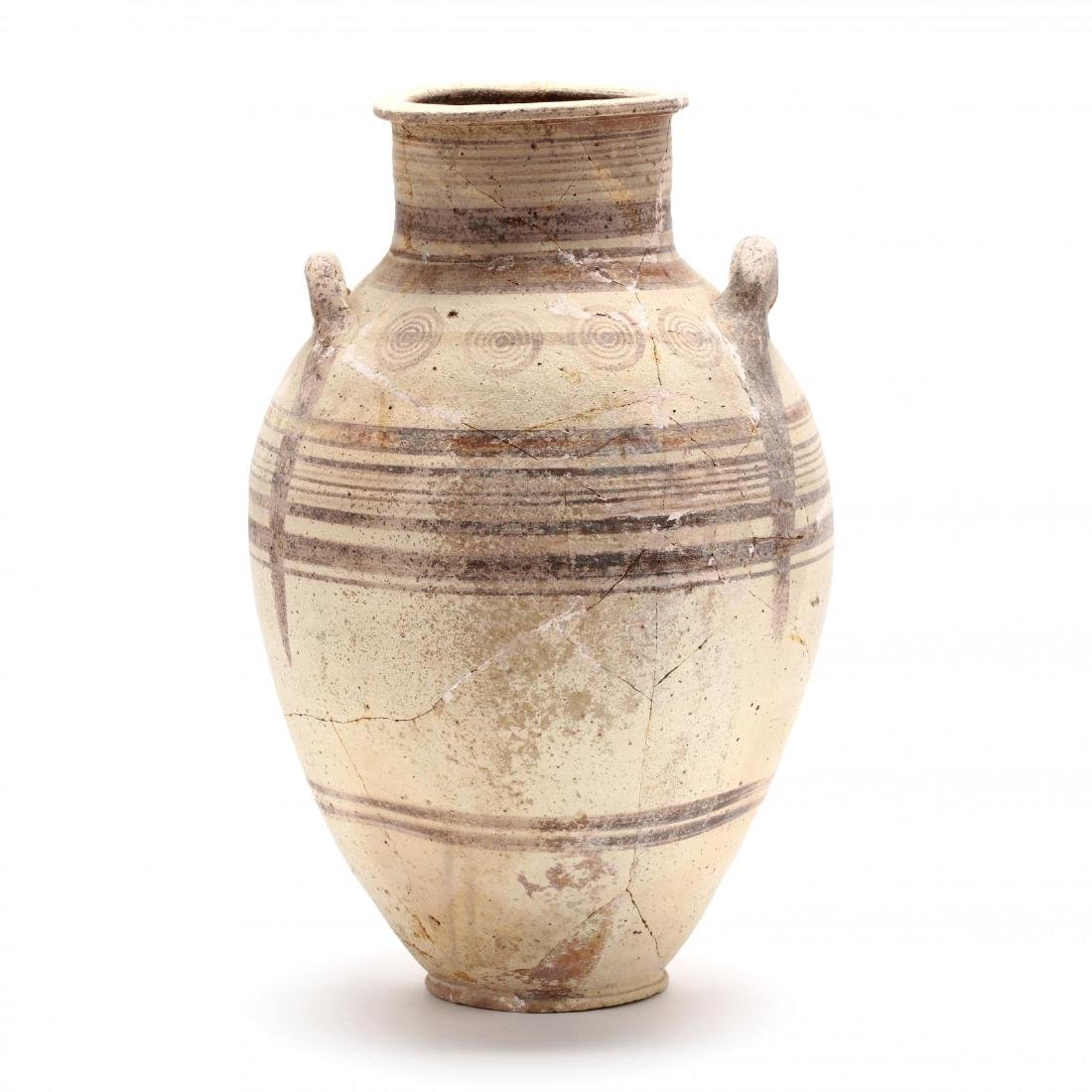 Cypro-Archaic Two-Handled Bichrome Amphora