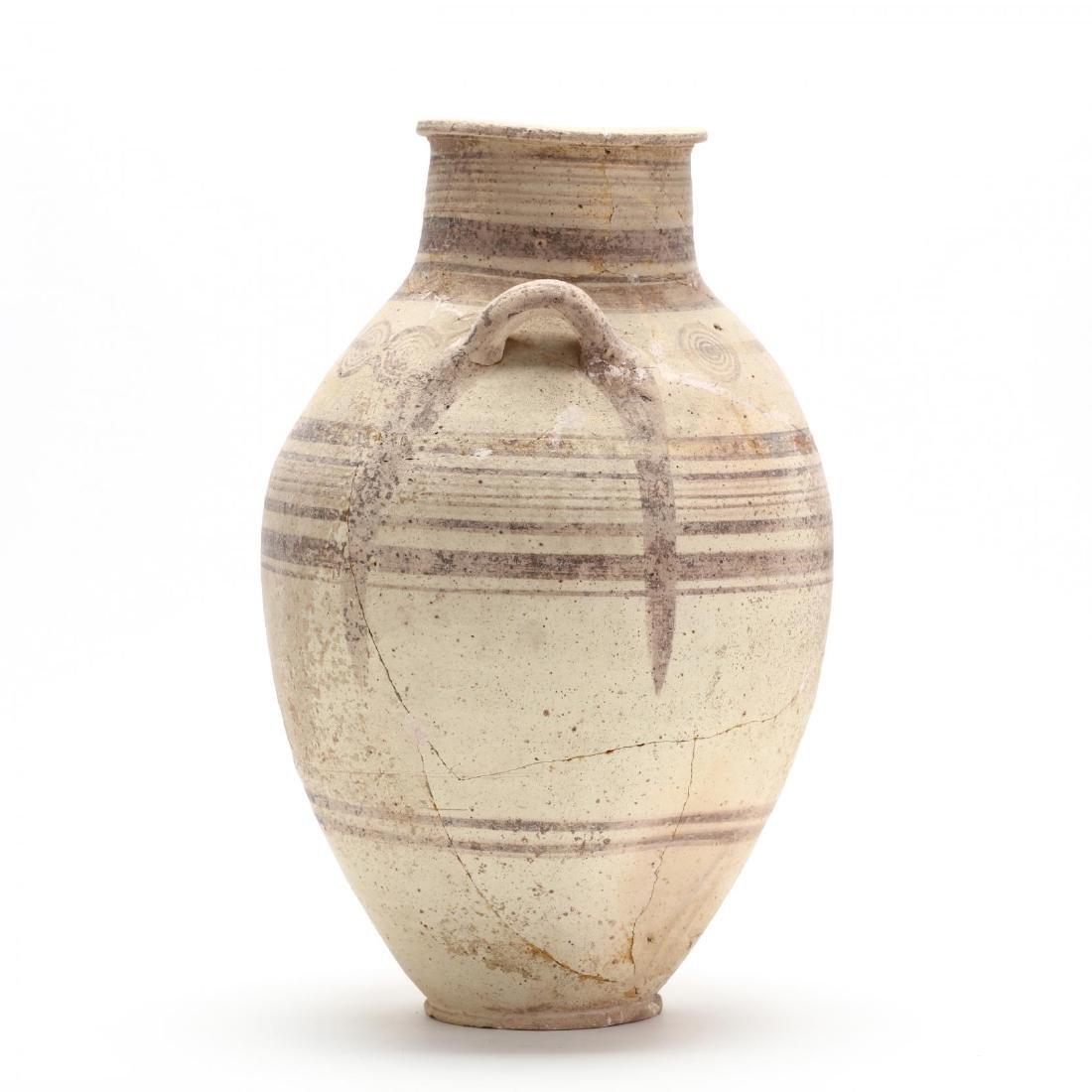 Cypro-Archaic Two-Handled Bichrome Amphora - 5