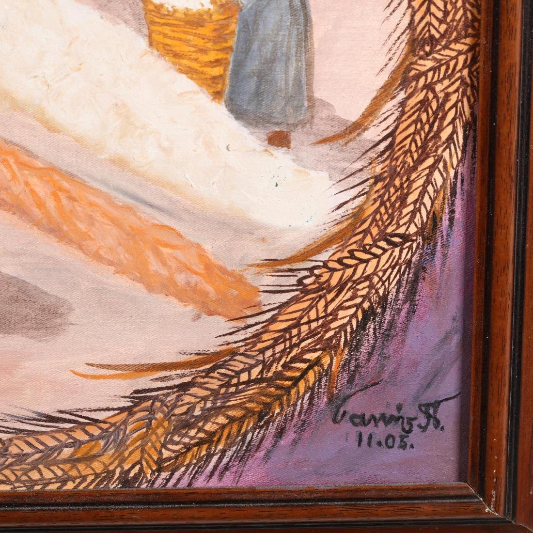 Yiannis Pelekanos (Cypriot, b. 1937), Wheat Production - 2