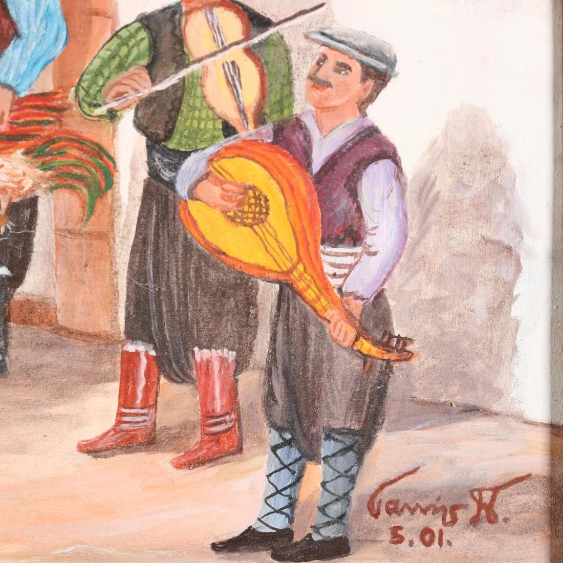 Yiannis Pelekanos (Cypriot, b. 1937), A Musical Village - 2