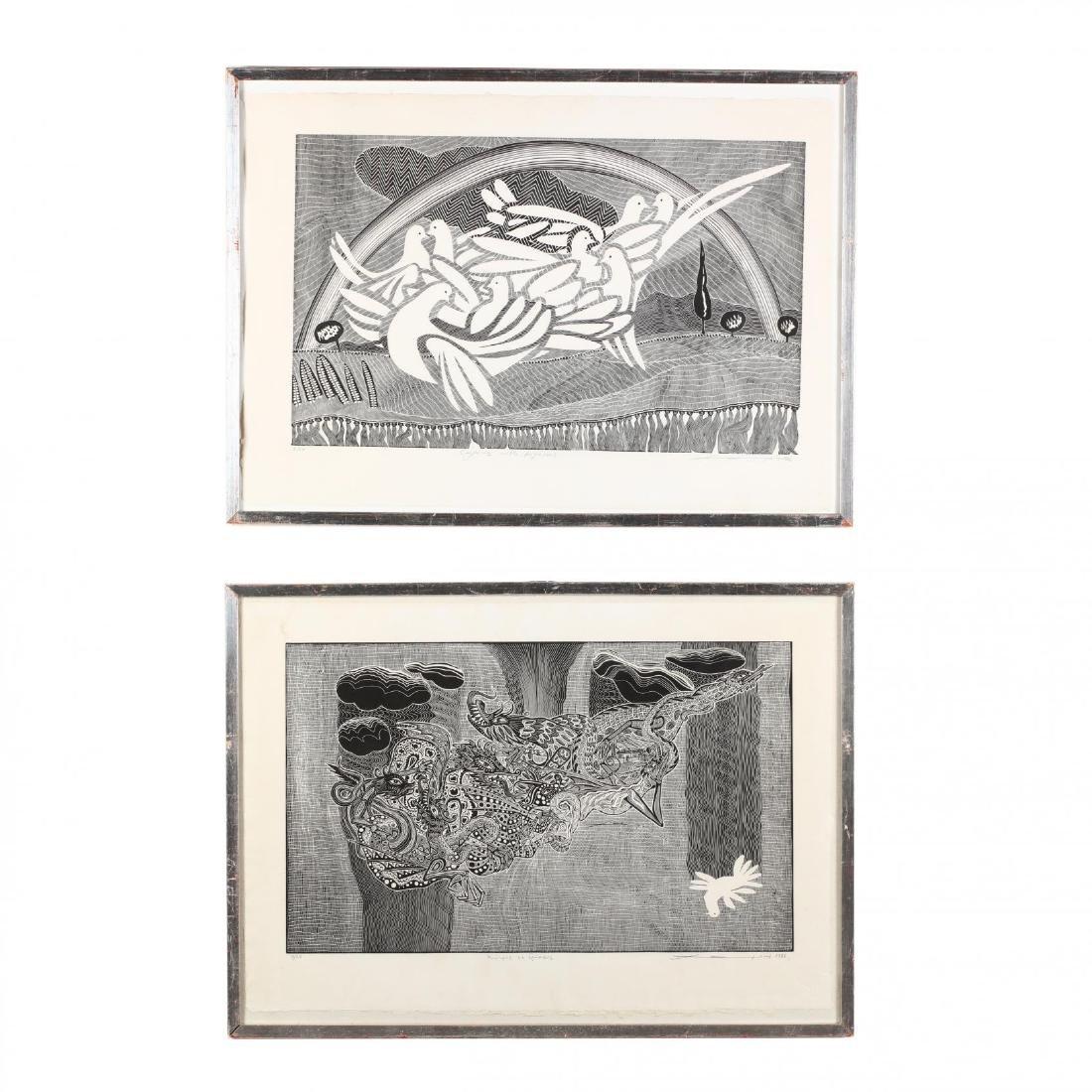 Hambis Tsangaris (Cypriot, b. 1947), Two Visions of