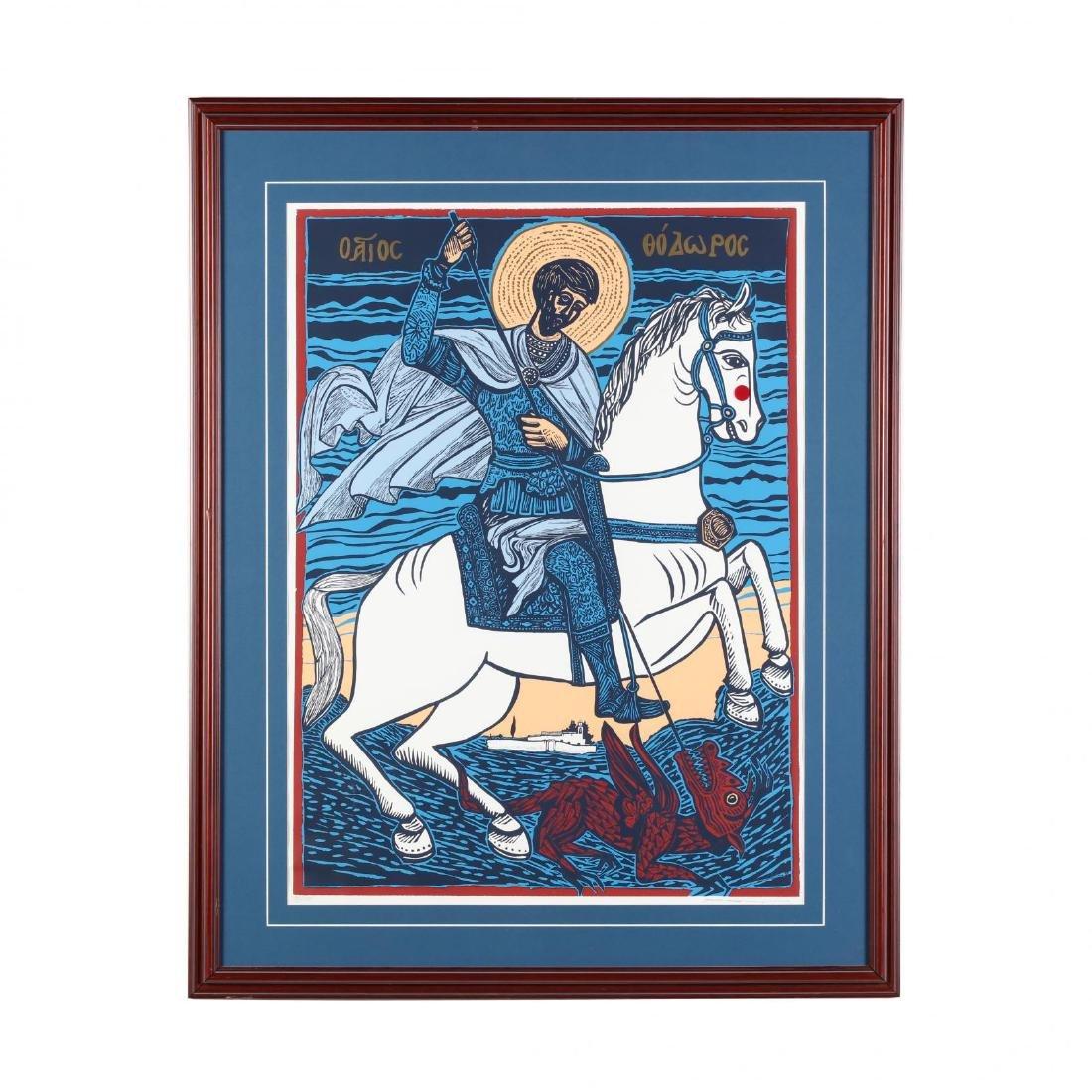 Hambis Tsangaris (Cypriot, b. 1947), St. Theodore...