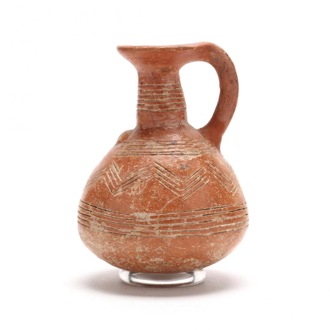 Cypriot Early Bronze Age Polished Red Ware Jug - 3