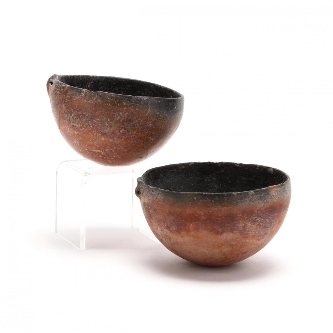 Two Cypriot Bronze Age Polished Red Ware Bowls