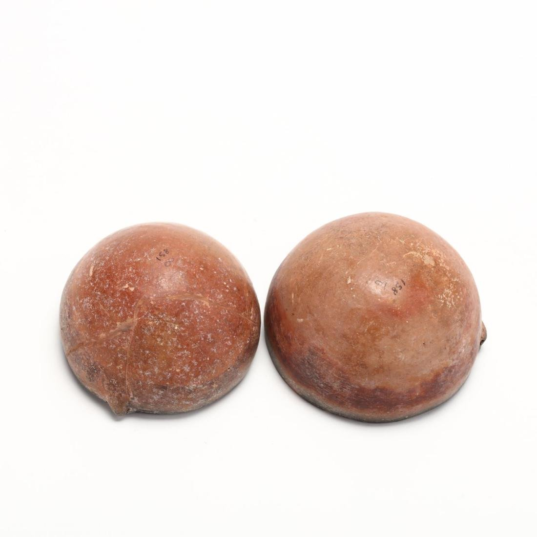 Two Cypriot Bronze Age Polished Red Ware Bowls - 6