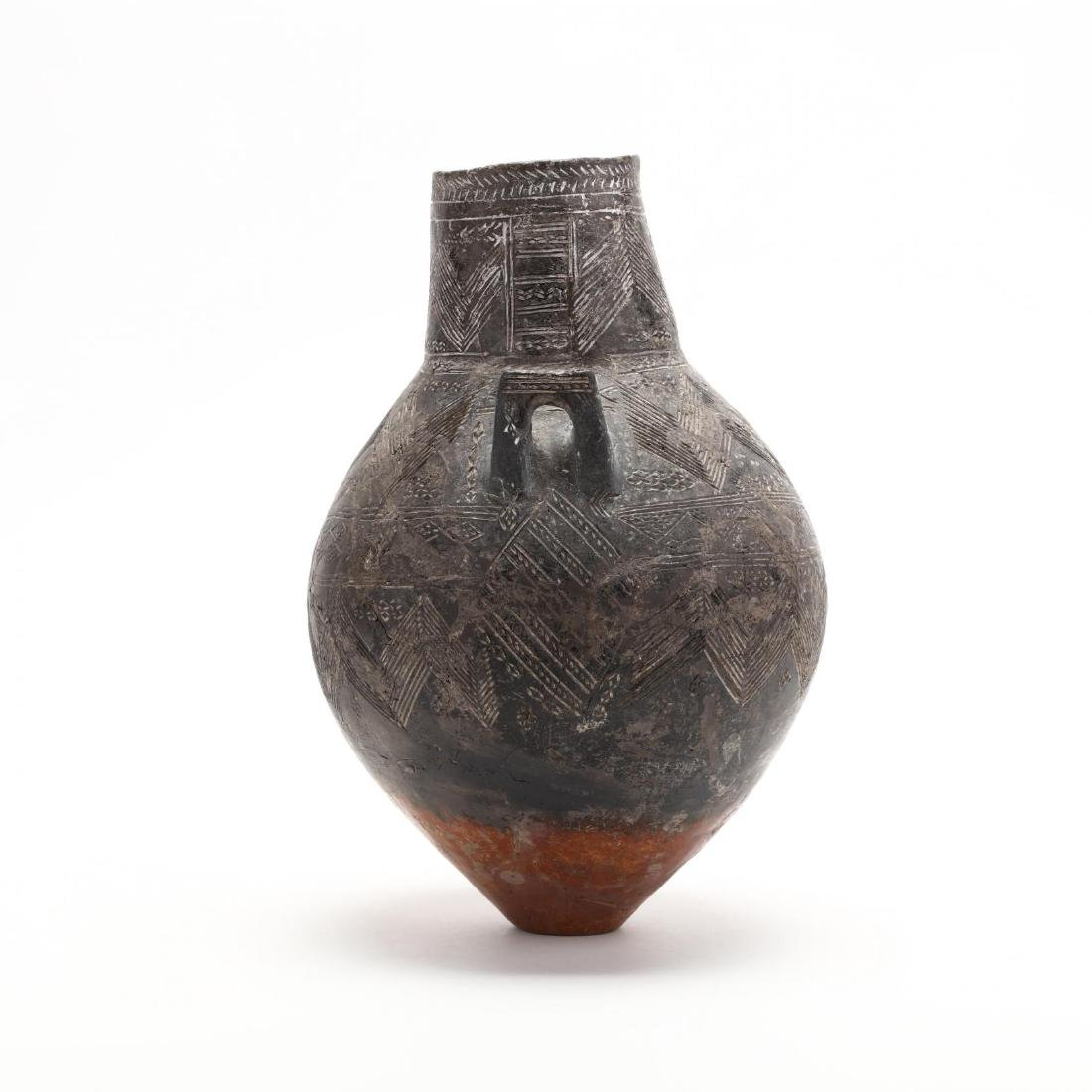 Cypriot Bronze Age Polished Red and Black Ware Amphora - 3