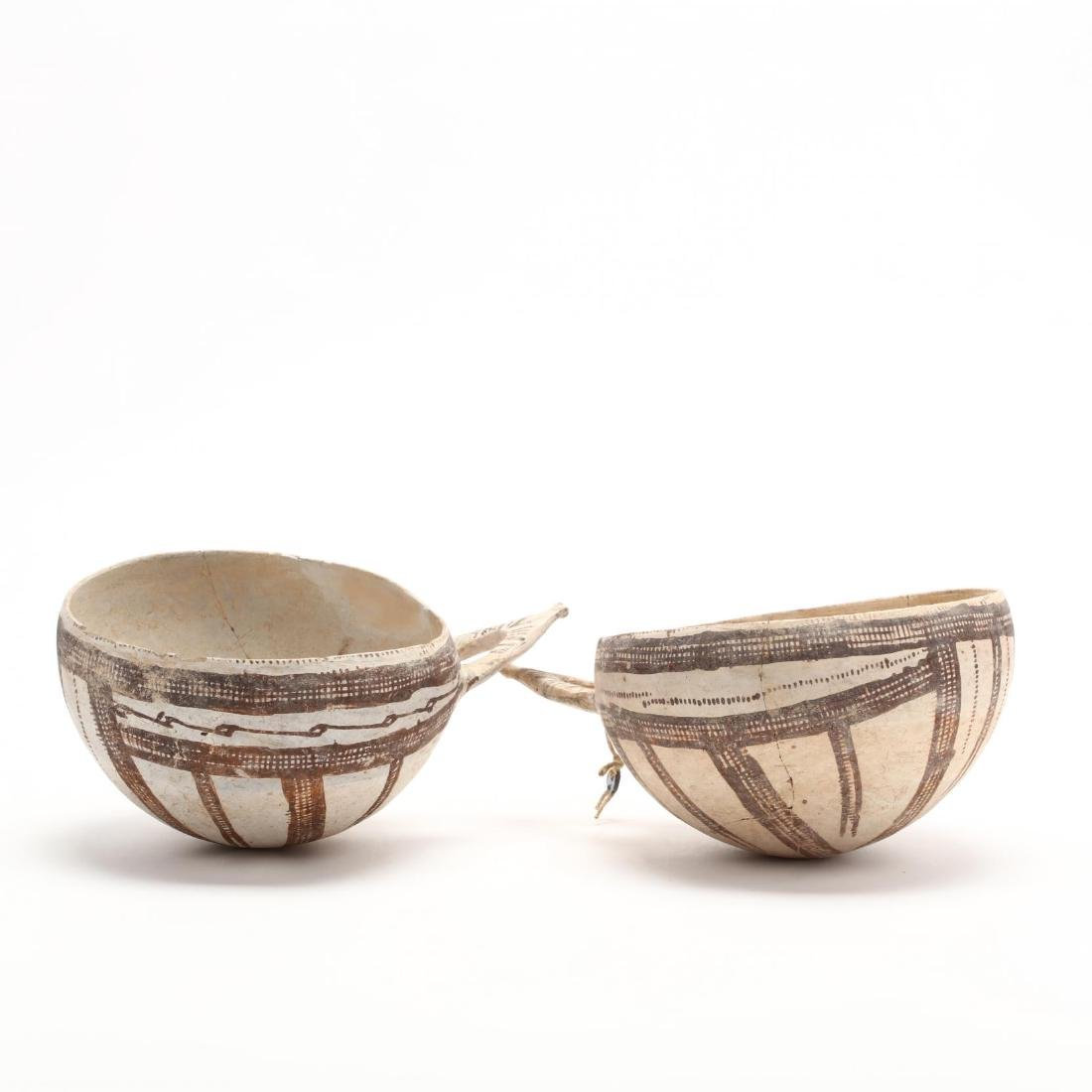 Pair of Cypriot Late Bronze Age White Slip Bowls