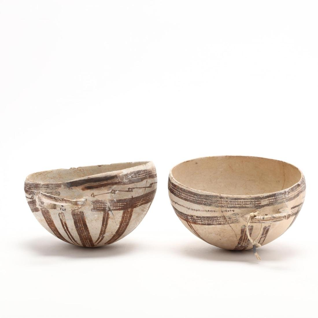 Pair of Cypriot Late Bronze Age White Slip Bowls - 2