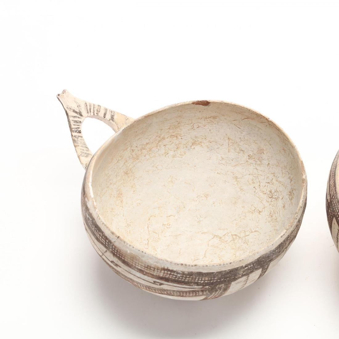 Pair of Cypriot Late Bronze Age White Slip Bowls - 4