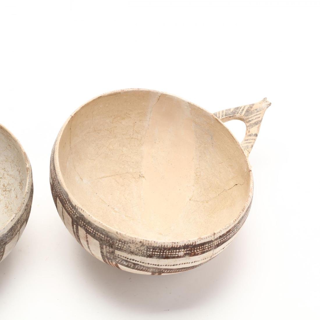 Pair of Cypriot Late Bronze Age White Slip Bowls - 6