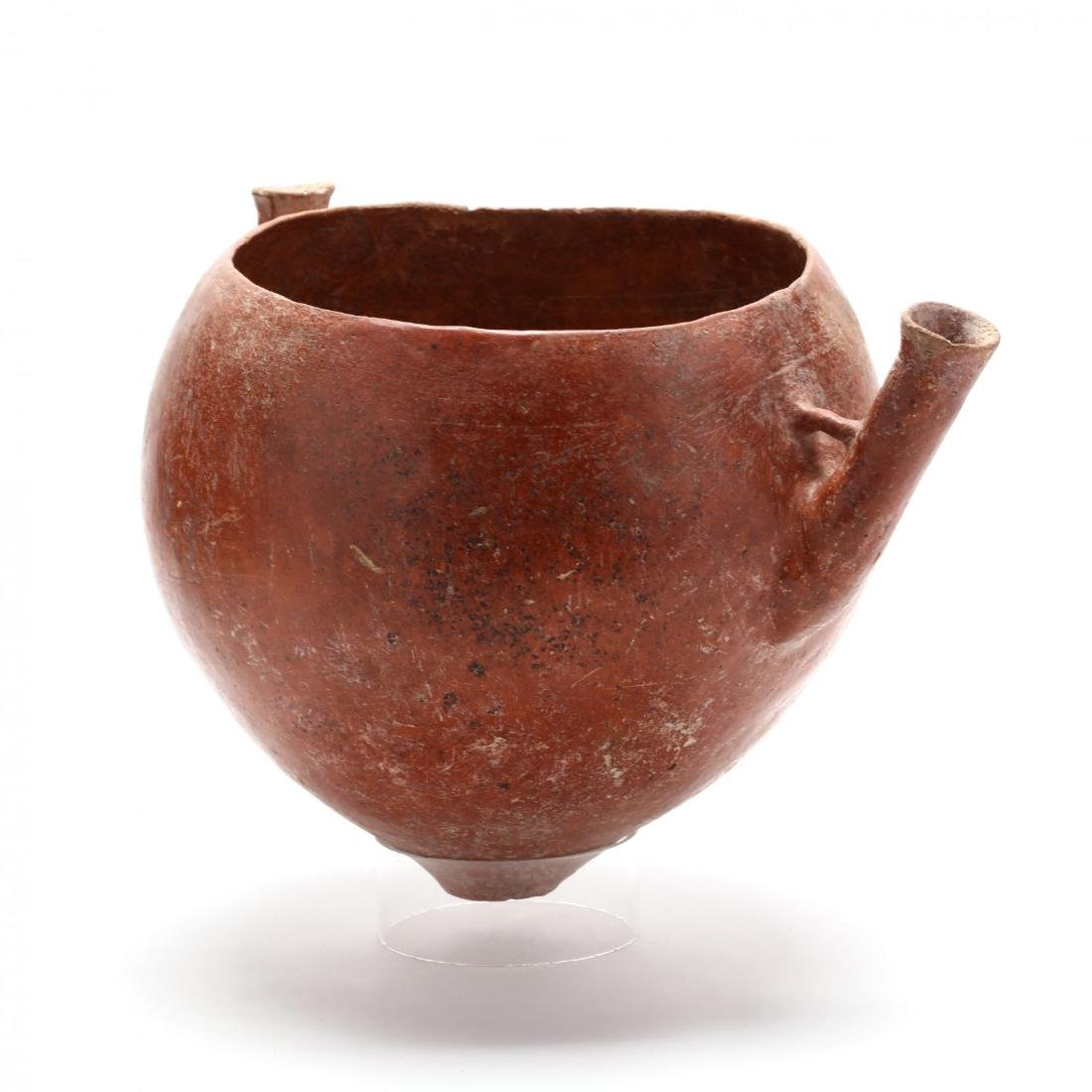 Cypriot Bronze Age Large Polished Red Ware Bowl With