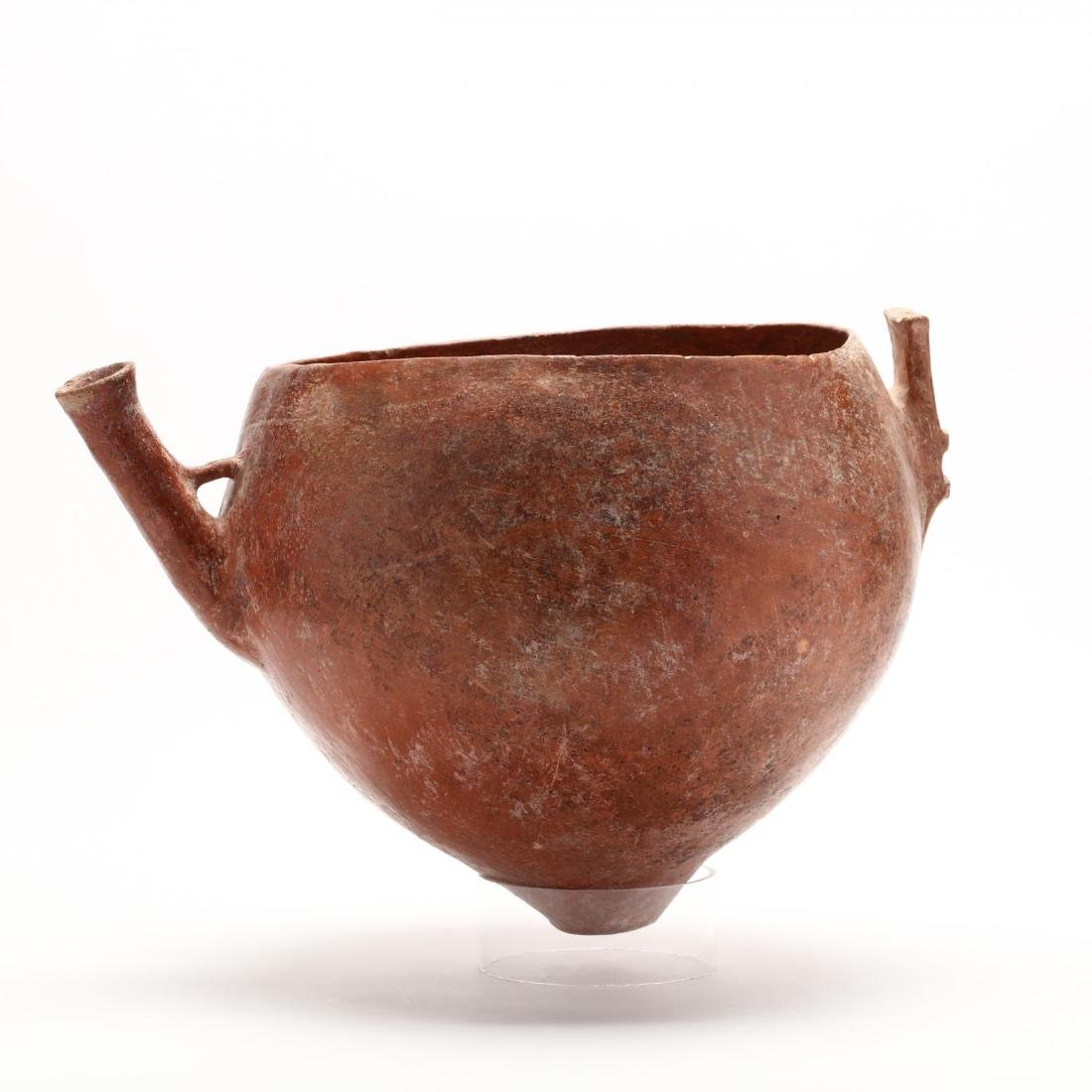 Cypriot Bronze Age Large Polished Red Ware Bowl With - 4