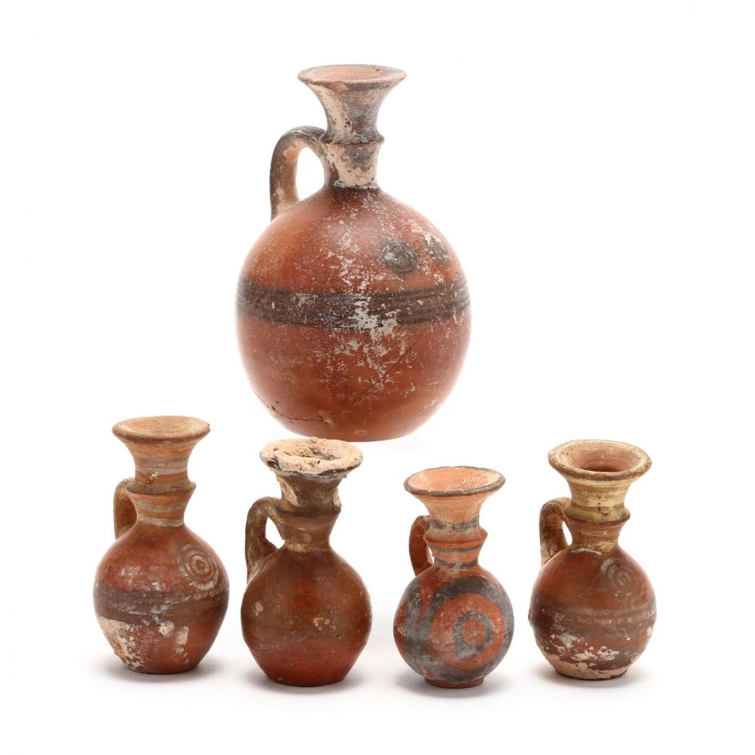 Five Late Bronze Age Red Ware Juglets