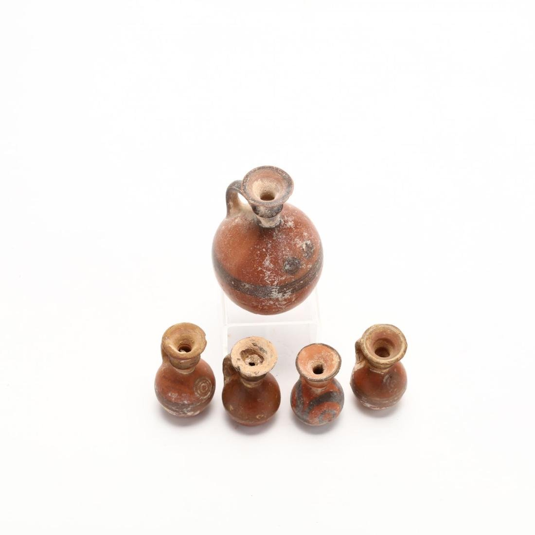 Five Late Bronze Age Red Ware Juglets - 2