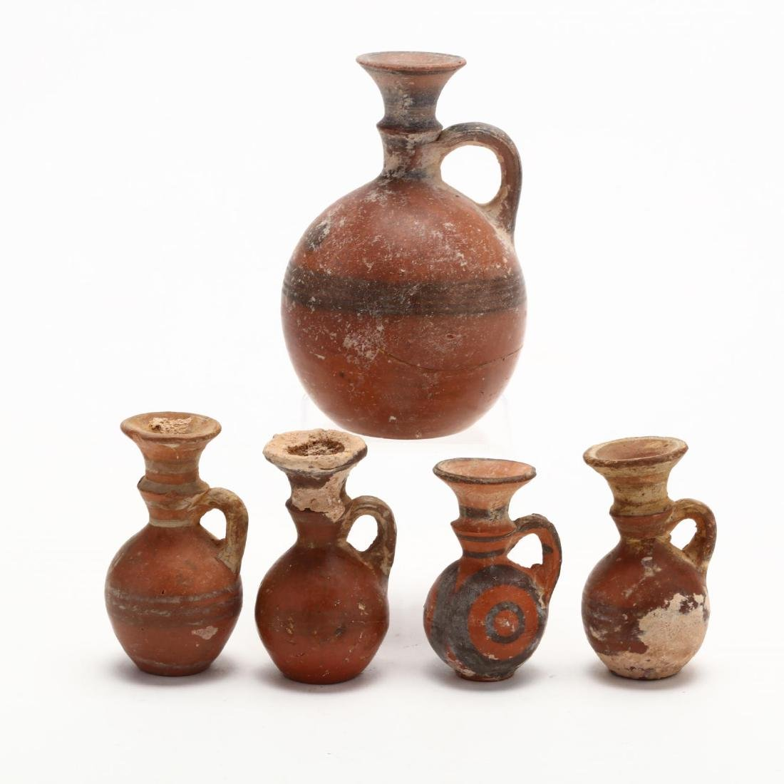 Five Late Bronze Age Red Ware Juglets - 3