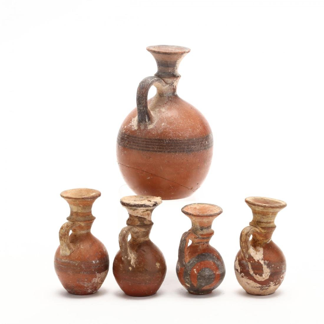 Five Late Bronze Age Red Ware Juglets - 4