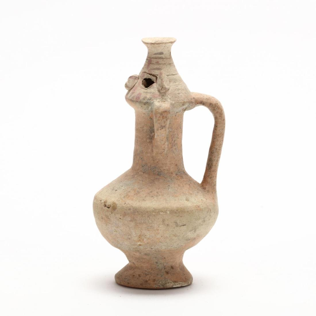 Greek Anthropomorphic Flask From Cyprus - 3