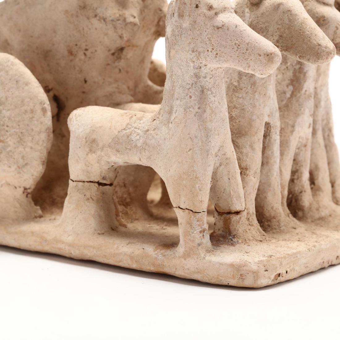Cypro-Archaic Terracotta Chariot With Three Warriors - 2