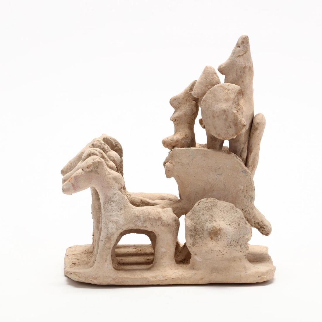 Cypro-Archaic Terracotta Chariot With Three Warriors - 3