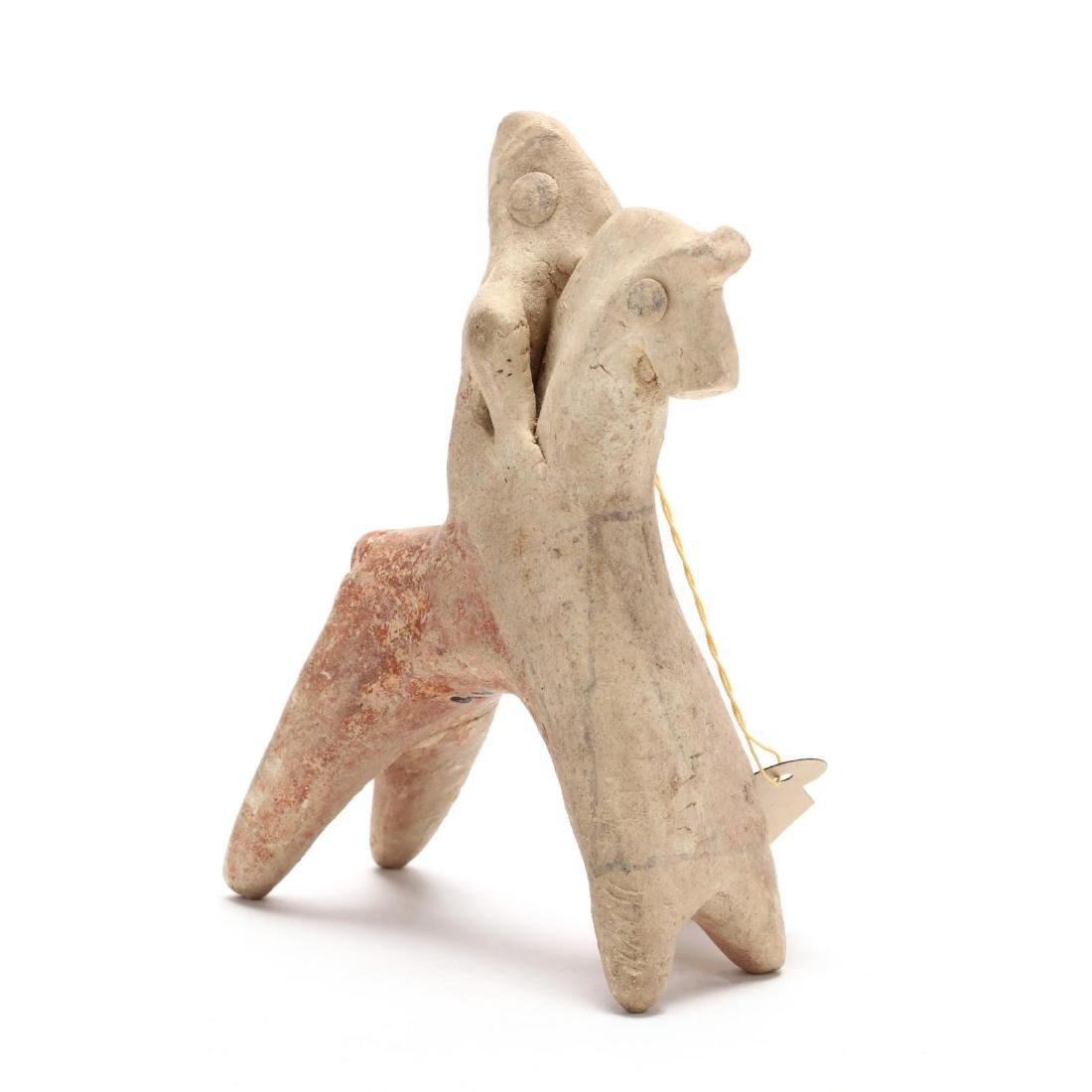 Cypro-Archaic Terracotta Horse and Rider