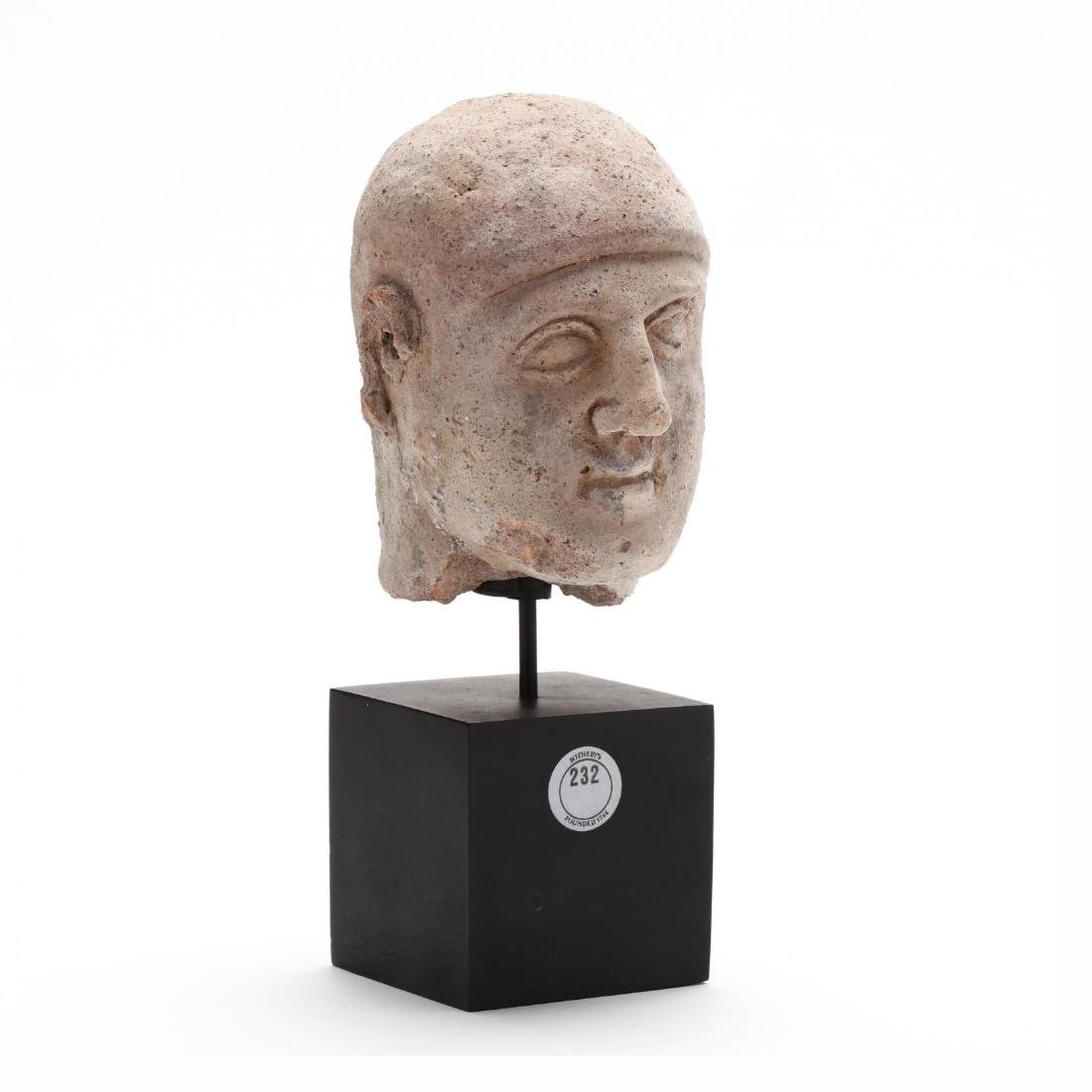 Cypriot Terracotta Head of a Man