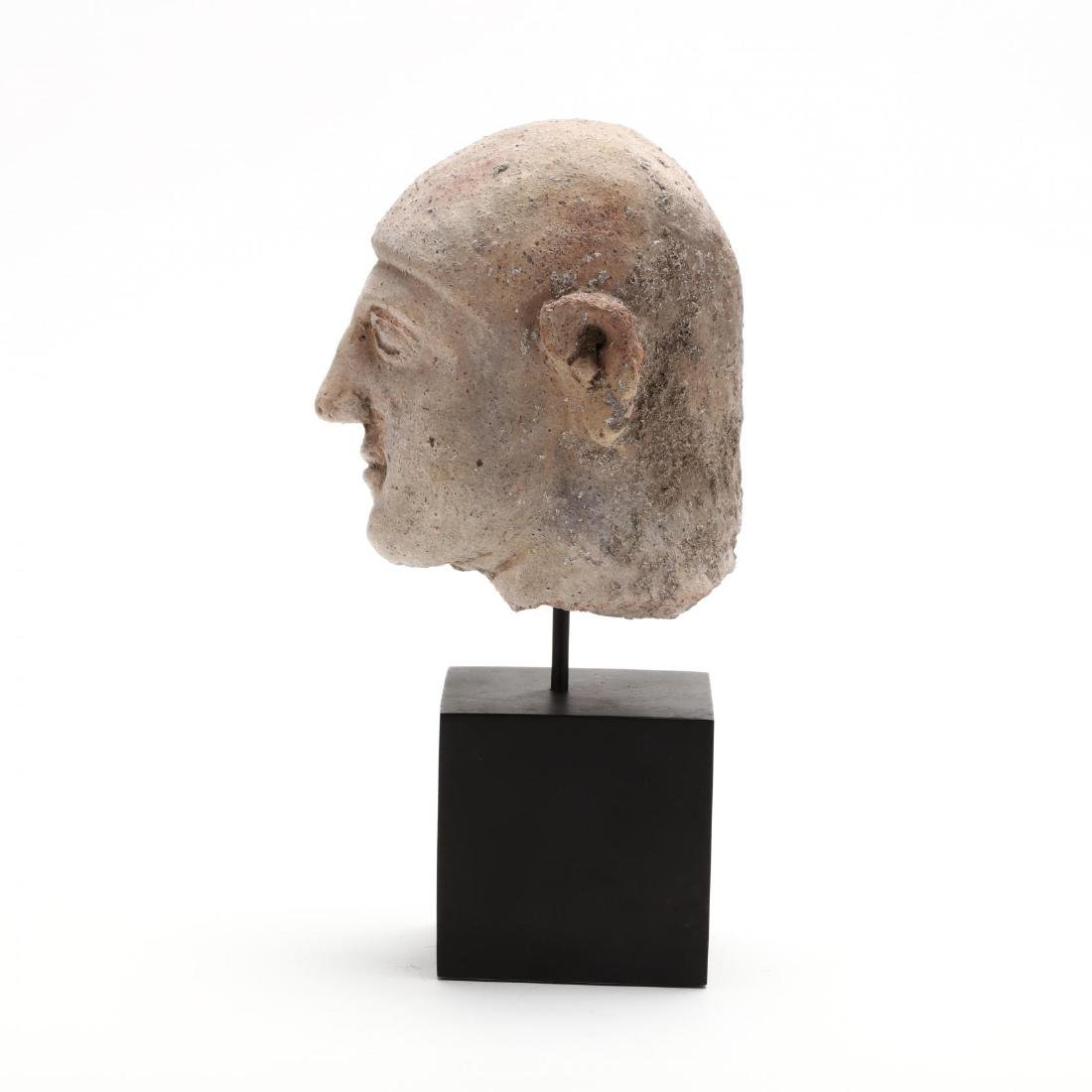 Cypriot Terracotta Head of a Man - 2