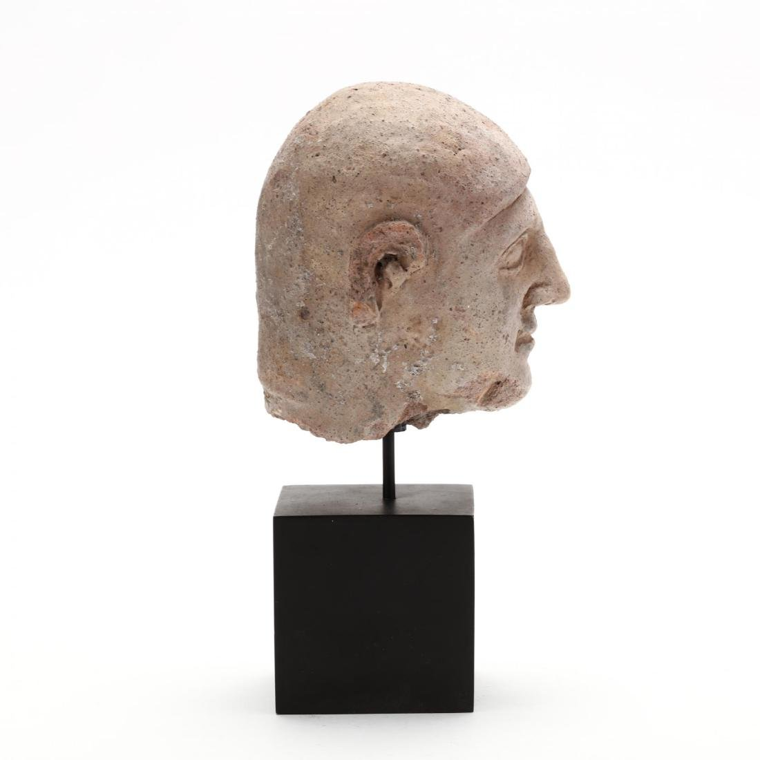 Cypriot Terracotta Head of a Man - 4