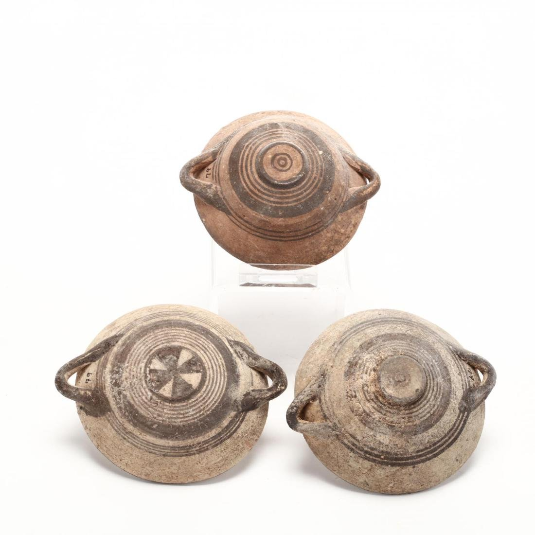 Three Cypro-Geometric Small Terracotta Bowls - 2