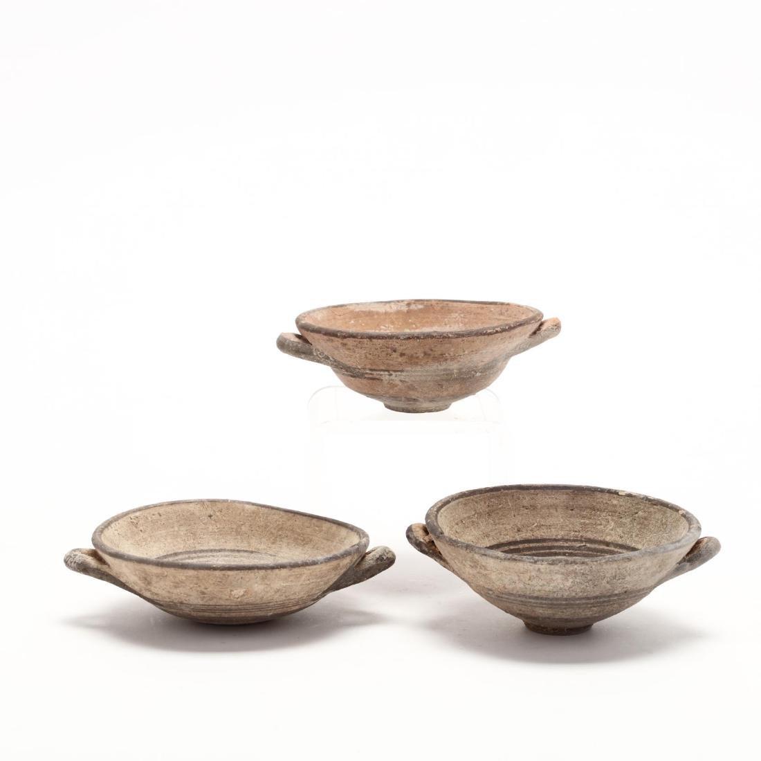 Three Cypro-Geometric Small Terracotta Bowls - 3