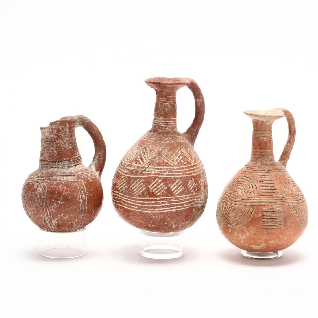 Three Cypriot Early Bronze Age Polished Red Ware - 5